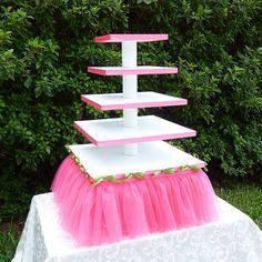 5 tier tutu cupcake stand