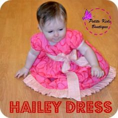Hailey Dress PDF Pattern and Instruction Newborn-24M | YouCanMakeThis.com
