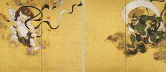 俵屋宗達の'風神雷神図'(17世紀)