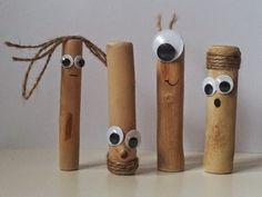 A Spoonful of Crafts: For børn: Sjove figurer af træpinde / For Kids: Funny Figures Made of Wooden Sticks