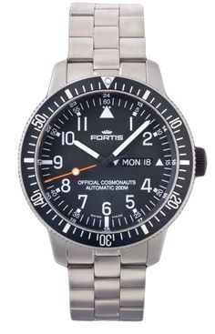 Fortis Watch Cosmonautis Official Cosmonauts Titanium #bezel-unidirectional #bracelet-strap-titanium #brand-fortis #case-material-titanium #case-width-42mm #date-yes #day-yes #delivery-timescale-1-2-weeks #dial-colour-black #gender-mens #luxury #movement-automatic #official-stockist-for-fortis-watches #packaging-fortis-watch-packaging #style-dress #subcat-cosmonautis #supplier-model-no-647-27-11-m #swiss-fortis #warranty-fortis-official-2-year-guarantee #water-resistant-200m
