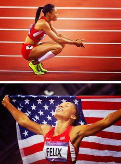 2012 200m Gold Medalist Allyson Felix
