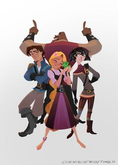 """seventhcatnobi: """" So I made this for the anniversary of Tangled the series. (but it took longer than expexted) I'm grateful for this wonderful series and everyone of the Tangled staff who give their everything to create this masterpiece we all. Eugene Tangled, Rapunzel And Eugene, Disney And Dreamworks, Disney Pixar, Disney Magic, Disney Art, Tangled Pictures, Frozen And Tangled, Tangled Princess"""