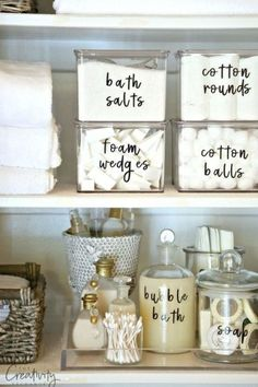 No Pinterest worthy bathroom would be seen dead with a packet of cotton wool buds on the side. These clear storage cubes are a much cuter way of storing your essentials. Via
