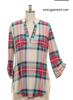 Rise To Greatness Plaid Top - Also in Plus Size