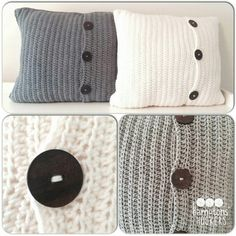 Cute crochet pillow idea
