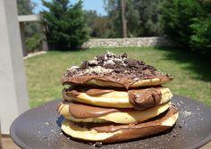 Fluffy Pancakes- Αφράτα παν κέικ The Kitchen Food Network, Fluffy Pancakes, Food Network Recipes, Cake Recipes, Recipies, Brunch, Food And Drink, Sweets, Snacks