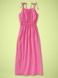 Gap pink bow strap girl's maxi dress