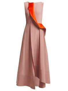 New Roksanda Efilia silk crepe de Chine midi dress. Womens Clothing from top store Abaya Fashion, 50 Fashion, Fashion Dresses, Formal Fashion, Silk Organza, Silk Crepe, Silk Fabric, Fendi Dress, Party Frocks