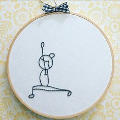 """8"""" embroidery hoop . yoga hand embroidery . downward dog. standing . warrior . yoga pose . namaste . black & white . inner peace . breathe by Embroiderwee on Etsy https://www.etsy.com/ca/listing/508835846/8-embroidery-hoop-yoga-hand-embroidery"""