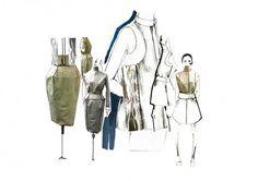 Fashion Sketchbook - fashion design development with fashion drawings & draping; fashion portfolio // Kanrawee Vechviboonsom