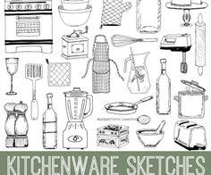 Kitchenware Doodles Kit