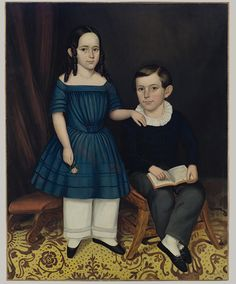 John and Louisa Stock, 1845  Joseph Whiting Stock (American, 1815–1855)  Oil on canvas    50 1/4 x 40 in. (127.6 x 101.6 cm)  Gift of Edgar William and Bernice Chrysler Garbisch, 1966 (66.242.19)