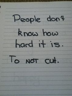 People dont know