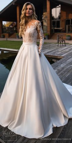 Wedding Dress by Florence Wedding Fashion 2019 Despacito Bridal Collection . Wedding Dress by Florence Wedding Fashion 2019 Despacito Bridal Collection dress Ball Dresses, Dresses With Sleeves, Evening Dresses, Ball Gowns Prom, Ball Gowns Evening, Wedding Ball Gowns, Dresses Dresses, Wedding Gowns With Sleeves, Wedding Dressed With Sleeves