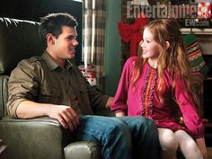 Taylor Lautner Mackenzie Foy The Twilight Saga Breaking Dawn Part 2 Entertainment Weekly. #TaylorLautner #MackenzieFoy #breakingdawn #twilight