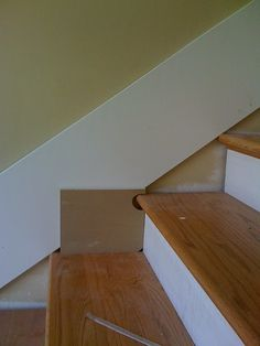 Even better idea--trace the outline of the stairs right onto the skirt board.