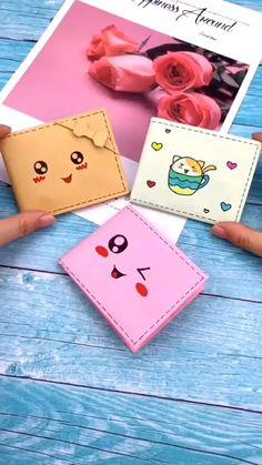 Diy Crafts Hacks, Diy Crafts For Gifts, Diy Home Crafts, Creative Crafts, Cool Paper Crafts, Paper Crafts Origami, Diy Paper, Fun Crafts, Diy Wallet Paper