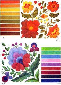 Сочетание цветов в вышивке двусторонней гладью                                                                                                                                                                                 More
