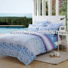 Aliexpress.com : Buy Home Textile,Fashion cotton twill printed denim cotton bedding set  quilt cover/duvet cover/bedsheet set/comforter set for home from Reliable bedding set suppliers on Yous Home Textile $57.00
