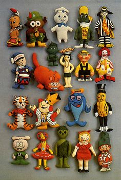 Vintage advertising mascot dolls
