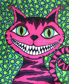 """More of my {Tearee Caswell} Alice inspired artwork.  The Cat's Meow"""""""