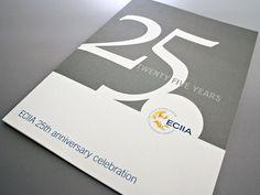 ECIIA 25th Anniversary Brochure by Mark Leatherland, via Behance