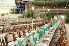 mesa boda decoración tropical wedding decor low cost ikea