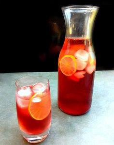 Suchá gelado de hibisco com frutas cítricas