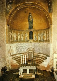 The interior of the church of Santa Maria Assunta in Torcello, Italy.