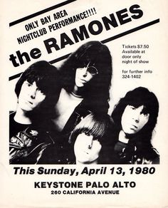 The Ramones - Advertise Poster 1980