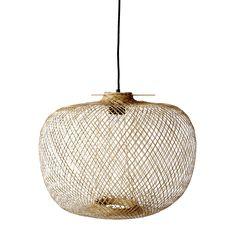 Luminaire - Suspensions - Suspension Bamboo / Ø 42 x H 30 cm - Bloomingville - Naturel - Bambou Bamboo Pendant Light, Lamp Design, Ceiling Lights, Light Shades, Ceiling Pendant Lights, Bamboo Lamp, Light Fittings, Pendant Lamp Design, Pendant Light