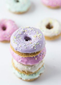 10 Prettiest Pastel Dessert Ideas: Darling Donuts. Stack them high or serve with ice cold milk - either way, you can't lose.
