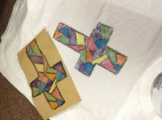 Stained glass t-shirt craft for LOMO Outreach