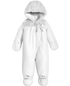9ff81a4d6 First Impressions Footed Snowsuit with Faux Fur Trim, Baby Girls (0-24  months