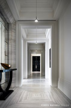 "Dubbed The Embassy, Drake's Manor House takes cues from ""modern art deco"", according to Ferris Rafauli, the designer behind this private home. Classic Interior, Luxury Interior Design, Interior Exterior, Interior Architecture, Classic Architecture, Contemporary Interior, Interior Decorating, Decorating Ideas, Decor Ideas"