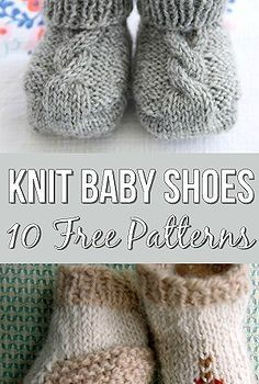 10 Free Knitting Patterns For Baby Shoes - The Most Adorable Baby Booties! - 10 Free Knitting Patterns For Baby Shoes – The Most Adorable Baby Booties! Knitting For Kids, Knitting Socks, Knitting Projects, Crochet Projects, Baby Booties Knitting Pattern, Knitting Tutorials, Knitting Patterns Free, Knit Patterns, Free Knitting
