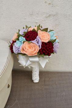 Pretty mixed felt flower alternative by MissVioletMiniMakery