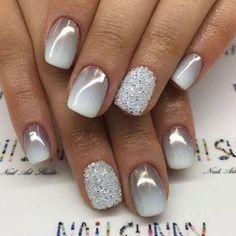 25 of the most beautiful nail designs to inspire you - new women& hairstyles - Nageldesign - Nail Art - Nagellack - Nail Polish - Nailart - Nails - Gel Nail Designs, Cute Nail Designs, Solar Nail Designs, Winter Nail Designs, Nail Ideas For Winter, Sparkle Nail Designs, Holiday Nail Designs, Winter Nail Art, Holiday Nails