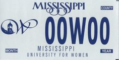Show your support for The W on the road with a MUW tag from the State of Mississippi Dept of Revenue. Mississippi University, Columbus Mississippi, Mississippi State, State College, Alma Mater, Cute Pictures, Ms, Google Search