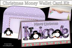 **COMING SOON** -  This lovely Christmas Money Wallet Kit will be available here within 12 hours - http://www.craftsuprint.com/carol-clarke/?r=380405