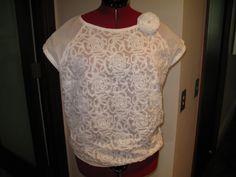 Swiss cotton embroidered fabric top - Burda pattern