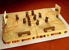 REESES Basketball Court Cake from HERSHEYS Kitchens