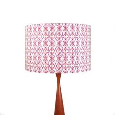 This cotton lampshade features our hand drawn print of purple beetles on a sage green background, the perfect w.