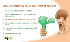 blow dryer remedy to get water out of ear