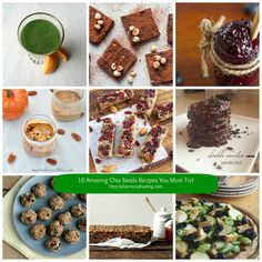 Collage 10 Amazing Chia Seeds Recipes You Must Try!