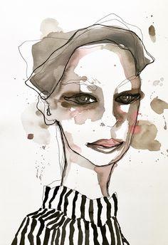Mixedmedia on paper by Eva Kock Art Images, Art Pictures, Palestine Art, Art Challenge, Art Plastique, Portrait Art, Face Art, Art Techniques, Art And Architecture