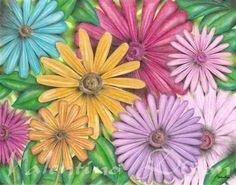 Flower Petals artwork drawing $99 - $149 size preference click website