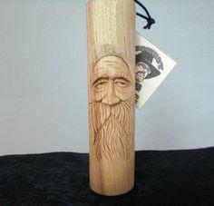 Hand Carved Wood Spirit Sleepy by cowboybob on Etsy, $45.00