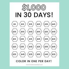 Saving Money Chart, Money Saving Tips, Saving Money Quotes, Saving Ideas, Money Tips, 52 Week Savings Challenge, Money Saving Challenge, Savings Planner, Money Planner